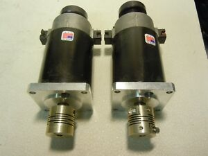 Cleveland Motion Control Servo Motors A Lot Of 2 Each With Flex Coupling