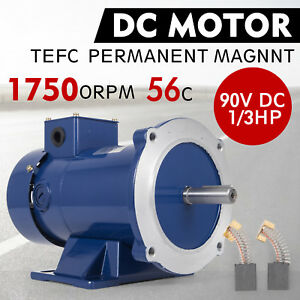 Dc Motor 1 3hp 56c Frame 90v 1750rpm Tefc Magnet 2 6a Dynamic Permanent Newest