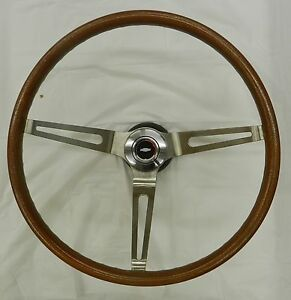 1969 1970 1971 1972 Chevelle Wood Grain Steering Wheel Kit Complete Blemished