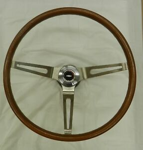 1967 1968 Camaro Wood Grain Steering Wheel Kit Complete Damaged