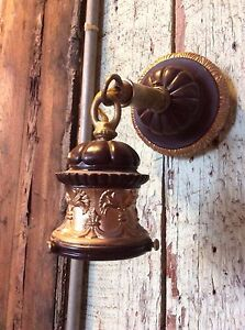 Reproduction Brass Floral Sconce With Shade Holder