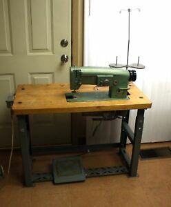 Consew 199r 2a Industrial Zig Zag Sewing Machine In Table W Clutch Motor Lifter