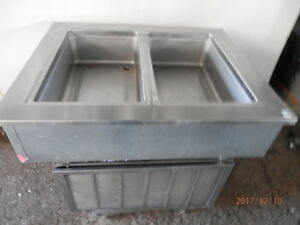 Delfield 2 Bay Drop In Refrigerated Cold Well Salad Bar