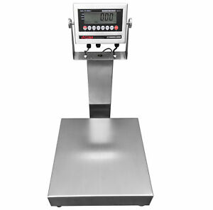 Optima Stainless Steel Washdown Bench Scale 300 Lb X 0 1 Lb Ntep