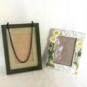 Lot Of 2 Vintage Picture Frames Ornate Green For Paintings Prints