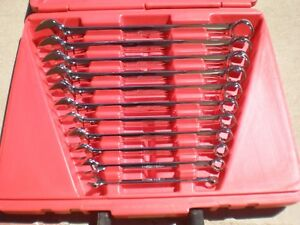 Snap On Tools 11pc Sae Combo Wrench Set Oex711ap In Pb68 Hard Case 3 8 1 Usa