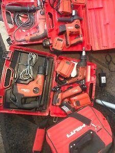 Hilti Lot For Sale Te4a18 sc6a22 st1800 te7c uh700 W 4 Battery 3 Chargers