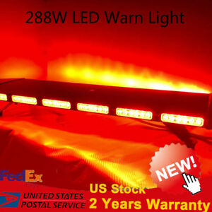 41 96 Led Red Light Warn Strobe Flash Bar Hazard Security Roof Strobe