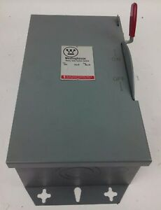 Westinghouse Hun362 Safety Switch 60a 600v 3p Type 1 Indoor Enclosure New