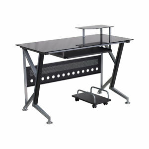 Latitude Run Ferrisburgh Desk Drawer With Pull out Keyboard Tray And Cpu Cart