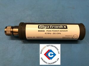 Gigatronics 80353a Peak Power Sensor 45 Mhz To 26 5 Ghz
