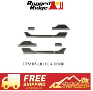 Rugged Ridge Steel Body Armor Cladding For 07 18 Jeep Wrangler Jku 4 Dr 11615 10