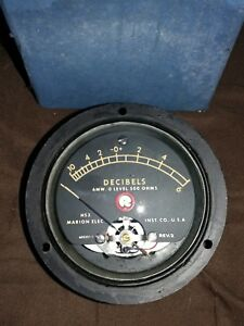Vintage Marion Electric Decibels Gauge 602351 1 Nos Steampunk Industrial Hs3