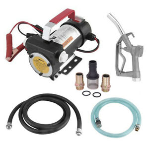 10gpm Electric Diesel Pumps 12v Oil And Fuel Transfer Extractor W Nozzle