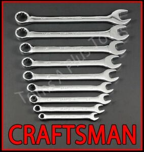 Craftsman Hand Tools 9pc Full Polish Sae Combination Wrench Set