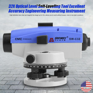 32x Optical Level Self leveling Tool Accuracy Engineering Measuring Instrument
