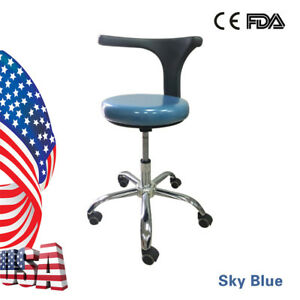 Dental Saddle Doctor Seat Chair Deluxe Mobile Dentist Stool Adjustable Nurse s