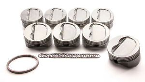 Srp Sbc 4 165 In Bore 400 Inverted Dome Forged Piston 8 Pc P n 147550