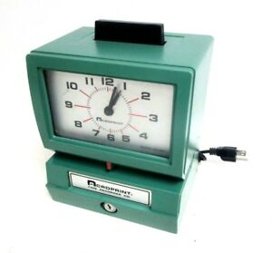 Acroprint 125nr4 Time Recorder Punch Clock Unlocked No Key