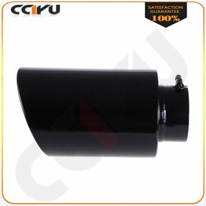 Stainless Steel Black Diesel Bolt On Exhaust Tip 5 Inlet 8 Outlet 15 Long