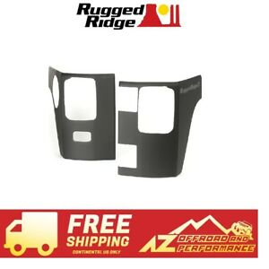 Rugged Ridge Rear Corner Body Armor 07 18 Jeep Wrangler Jku 4 Dr 11651 09 Black