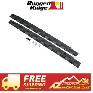 Rugged Ridge Rocker Panel Body Armor 07 18 Jeep Wrangler Jku 4 Door 11651 12