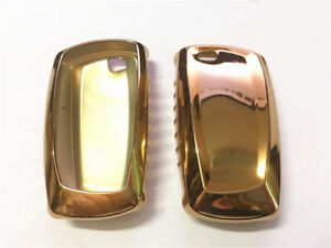 1pcs Gold Tpu Car Remote Key Cover Protective Case Trim For 4 5 6 7 Series X3 M3