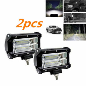 2pcs 72w Spotlight Led Offroad Work Light 12v 24v Car Boat Truck Driving Lamp N1