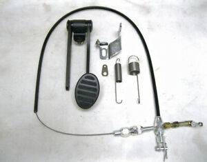 Black Street Rod Hot Rod Universal Oval Gas Pedal Throttle Cable Spring Kit