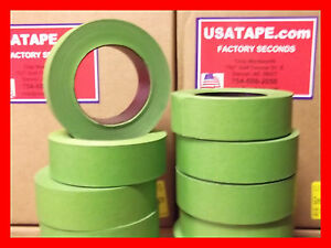 Lot Of 32 Rolls 1 5 X 60 Yrds Green Painters Masking Tape Fine Edge Made In Usa