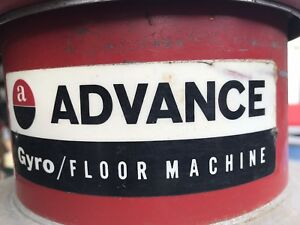 Advance Gyro Floor Machine 14 1 2 Hp Works Perfectly Plus Pads