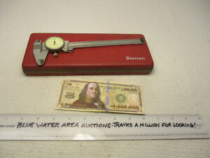 Starrett 6 Dial Caliper Model 120 z W Case Smooth Movement No Skips Ec