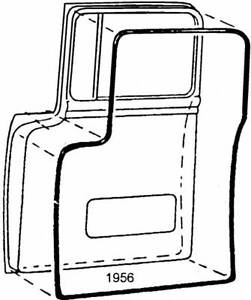 1956 Ford Pickup Ford Truck Door Seal Set