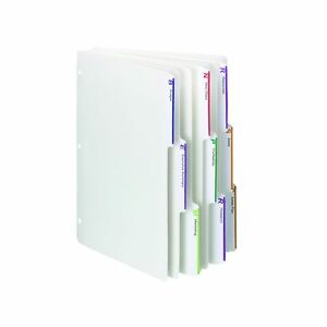 Smead Viewables Three ring Binder Index Dividers 1 3 cut Tab Letter Size W