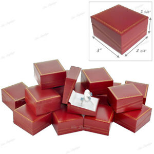 Lot Of 24 Jewelry Set Drop Earring Ring Red Gift Box Jewelry Box Showcase Box