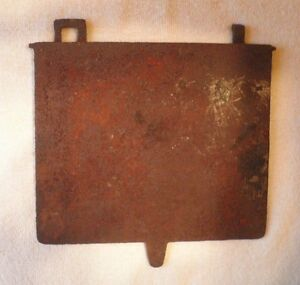 Vintage Cast Iron Lid For Water Reservoir Wood Burning Stove Steampunk Decor