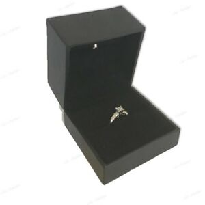 Lot 4 Led Ring Box Black Jewelry Gift Box Ring Gift Box Lighted Engagement Box