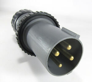 T b Russellstoll 7328dp Male 4 Pin And Sleeve Connector 60a 250vdc 600vac