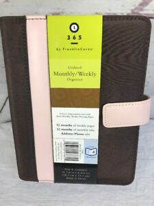 New Franklin Covey 365 Organizer Day Planner Brown Pink 6x8 Compact Sz 4 Undated