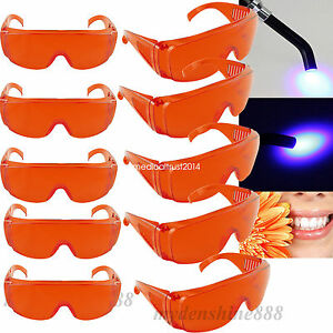 Usa 10 red Color Dental Curing Light Protective Eye Safe Goggles Glasses Eyewear