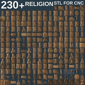 3d Stl Model Relief 220 Pcs Religion For Cnc Router Artcam Aspire
