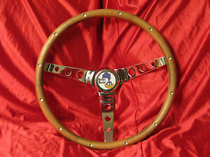 Roadrunner Wood Steering Wheel With Horn Button
