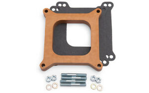 Edelbrock 8719 Carb Spacer Wood 4150 Series 3 4 Thick Carburetor Fits Holley