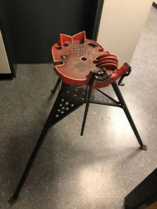 Ridgid 460 Portable Tri stand Chain Vise 1 8 To 6 Pipe Vise
