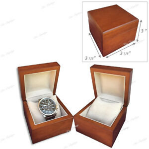 2 High Quality Solid Wood Gift Box Watch Box Bracelet Box Showcase Brown Box