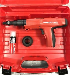 Hilti Dx 2 Powder Actuated Fastening Tool Red Trigger Heavy Duty Construction