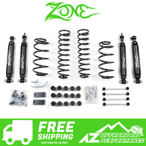 Zone Offroad 4 25 Combo System Suspension Body 97 06 Jeep Wrangler Tj J25n