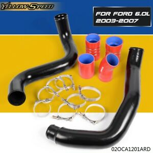 For Ford 6 0l 2003 2007 Turbo Intercooler Pipe Boot Kit Cac Tube Powerstroke
