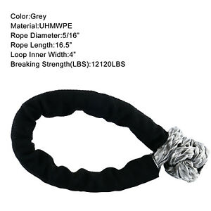 5 16 Soft Shackle 12120lbs Breaking Strength Uhmwpe Rope Tow Recovery Strap Us