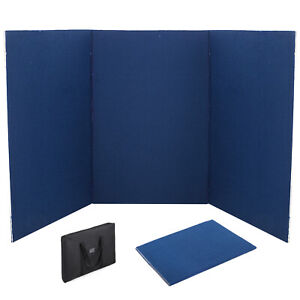 72 X 36 3 Panel Tabletop Display Presentation Board Double Side Tri fold Pvc